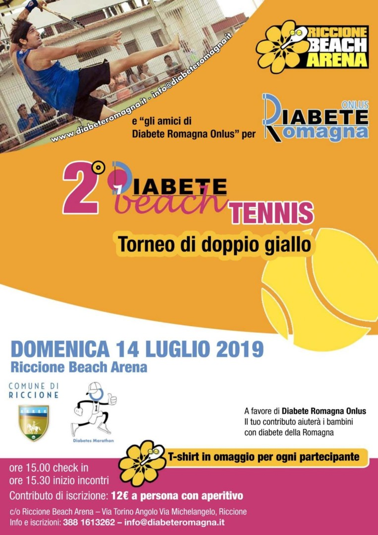 Al Via La Seconda Edizione Di Diabete Beach Tennis: Diabete Romagna E Riccione Beach Arena Per Il Torneo Benefico A Favore Dei Bambini Con Diabete