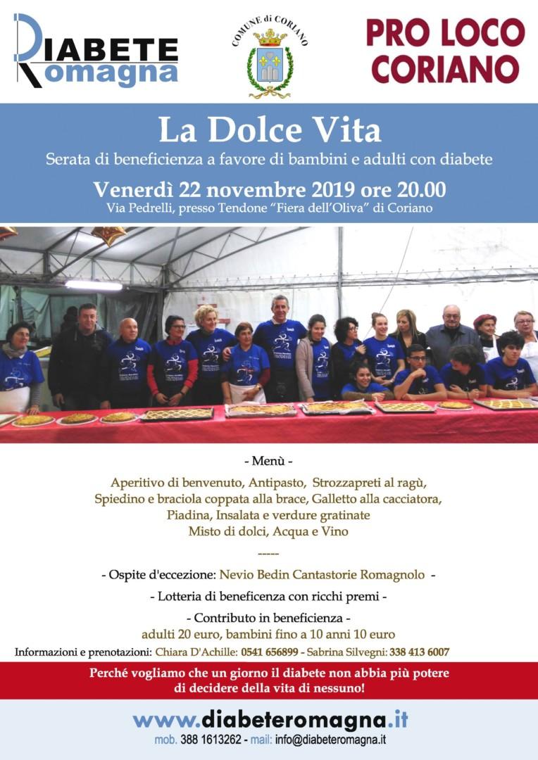 """Quarta Edizione Per """"La Dolce Vita"""", Pro Loco Di Coriano E Diabete Romagna Con """"Nevio Bedin – Cantastorie Romagnolo"""" Per Una Serata Di Beneficenza A Favore Delle Persone Con Diabete"""