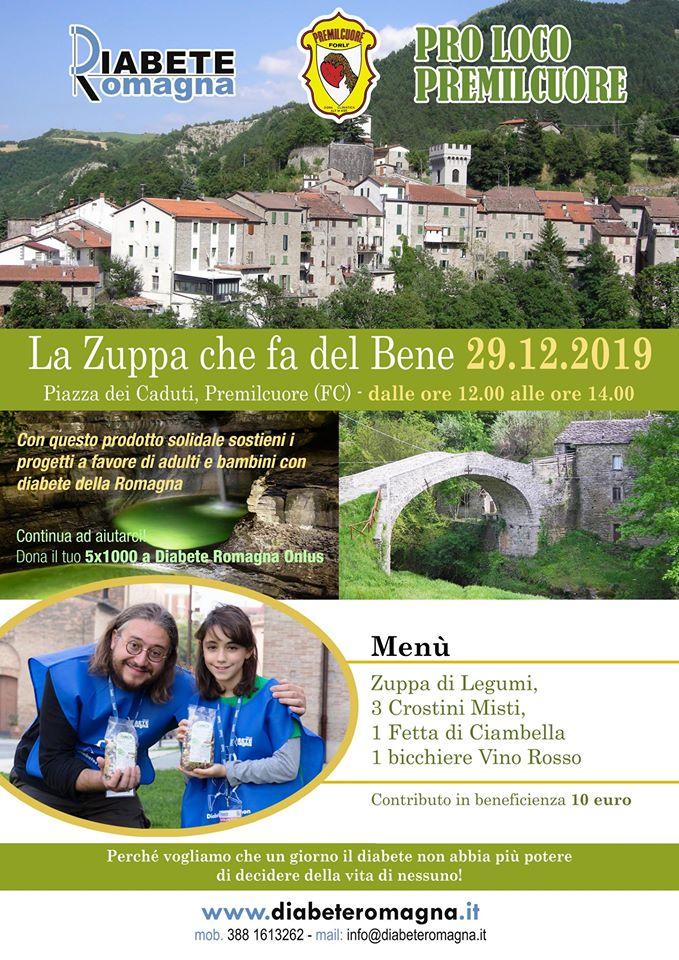 """Pranzo A Premilcuore Con """"La Zuppa Che Fa Del Bene"""" Di Diabete Romagna Grazie Alla Pro Loco Di Premilcuore"""