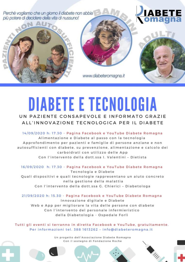 Diabete E Tecnologia, 14, 16 E 21 Settembre Un Ciclo Di Incontri In Diretta Streaming A Cura Di Diabete Romagna E Con Il Contributo Di Fondazione Roche