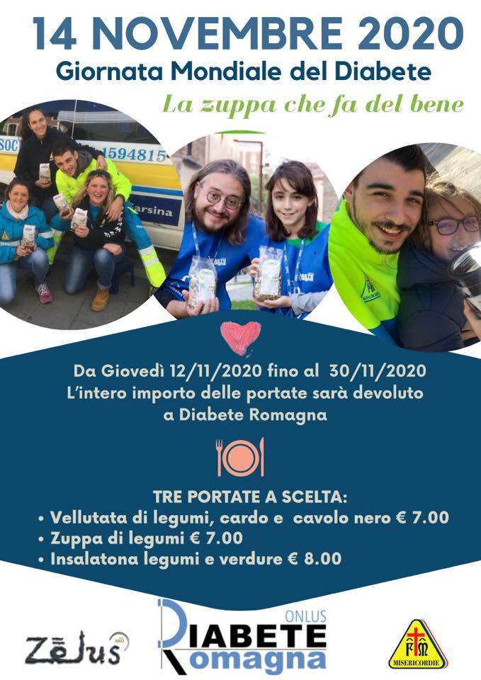 """Il Ristorante """"Zelus"""" A Domicilio Con Il Menu Solidale In Occasione Della Giornata Mondiale Del Diabete"""
