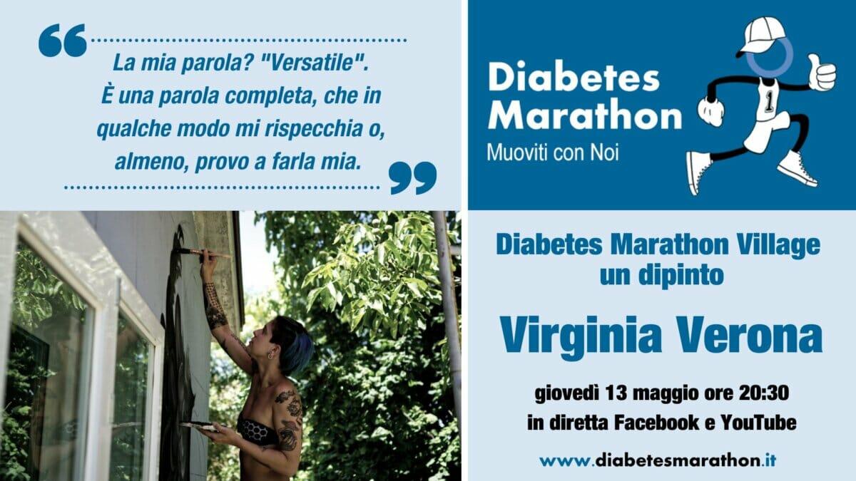 """Diabetes Marathon Village """"un Dipinto"""" Con Virginia Verona – Giovedì 13 Maggio Ore 20:30"""