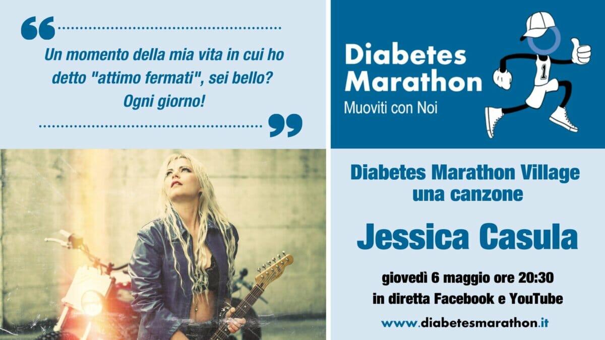 """Al Via Il Diabetes Marathon Village, Giovedì 6 Maggio Ore 20.30 """"una Canzone"""" Con Jessica Casula"""
