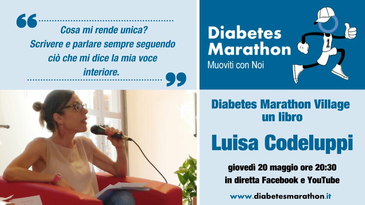 "Diabetes Marathon Village, Giovedì 20 Maggio Alle Ore 20.30 ""un Libro"", Con Luisa Codeluppi"