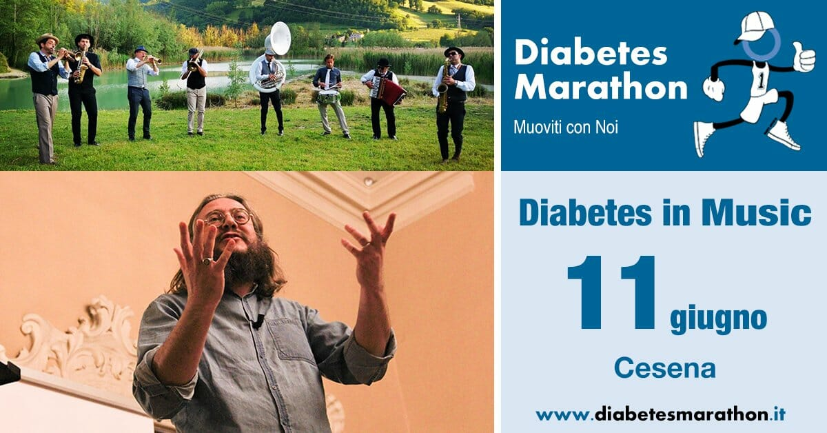 "Al Via Diabetes Marathon ""Green Edition"" Con Diabetes In Music, Venerdì 11 Giugno Roberto Mercadini, Enrico Farnedi E Francesca Pretolani, Random, RétroMarching Band E Mirko Casadei."