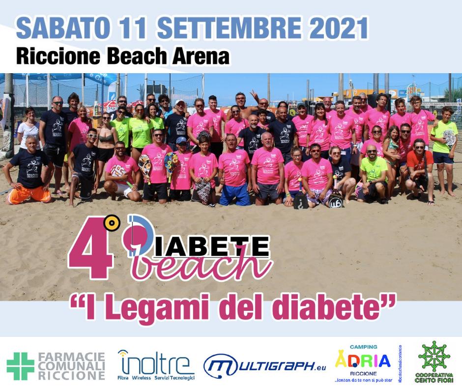 """Riccione Beach Arena Per Il Quarto Anno A Sostegno Dei Bambini Con Diabete Per Diabete Beach, """"I Legami Del Diabete"""""""